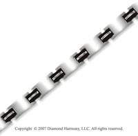 Sleek Black Wide 11.00 Men's Stainless Steel Bracelet