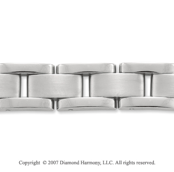Sleek Classic Style Wide 11mm Men's Titanium Bracelet