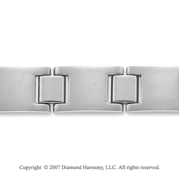 Sleek Grand 10.50mm Men's Stylish Titanium Bracelet