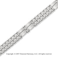 Stylish Extra Wide 14mm Men's Stainless Steel Bracelet