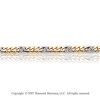 14k Two Tone Gold 1/2 Carat Diamond Men's Bracelet