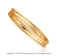 14k Yellow Gold Smooth Rope Outline Stackable Bangle
