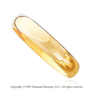 14k Yellow Gold Fine High Polished Extra Large Bangle