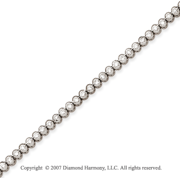 14k Yellow Gold Bezel 2.15 Carat Diamond Tennis Bracelet