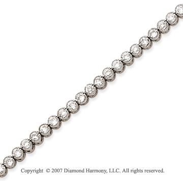 14k Yellow Gold Bezel 3.15 Carat Diamond Tennis Bracelet