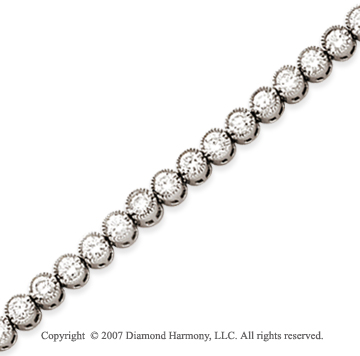 14k Yellow Gold Bezel 3.75 Carat Diamond Tennis Bracelet