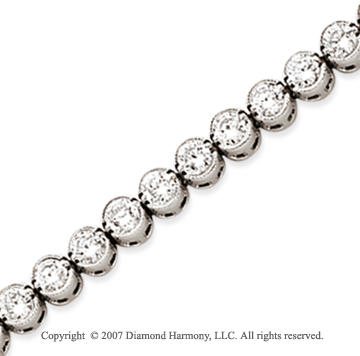 14k White Gold Bezel 5.15 Carat Diamond Tennis Bracelet