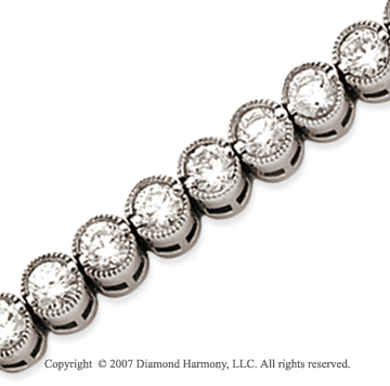 14k White Gold Bezel 8.25 Carat Diamond Tennis Bracelet