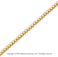 14k White Gold Bezel 2.15 Carat Diamond Tennis Bracelet