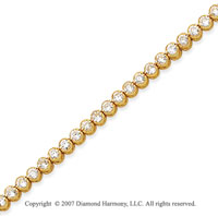 14k White Gold Bezel 3.15 Carat Diamond Tennis Bracelet