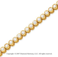14k White Gold Bezel 3.75 Carat Diamond Tennis Bracelet