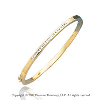 14k Yellow Gold Sleek Channel 1/3 Carat Diamond Bangle