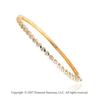 14k Yellow Gold Stylish Elegance 1.25 Carat Diamond Bangle