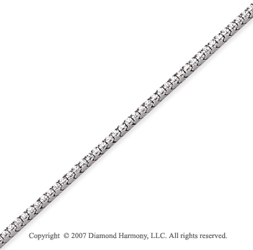 14k White Gold Fun Side 1.00Ct Diamond Tennis Bracelet