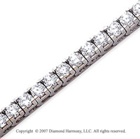 14k White Gold Fun Side 10.50 Carat Diamond Tennis Bracelet