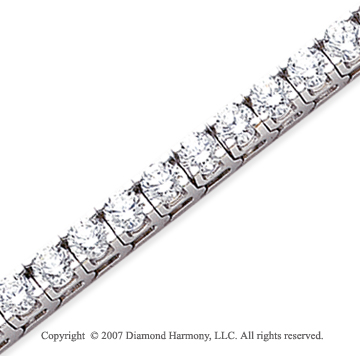 14k White Gold Fun Side 12.60 Carat Diamond Tennis Bracelet