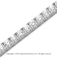 14k White Gold Fun Side 17.10 Carat Diamond Tennis Bracelet