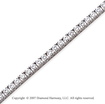 14k White Gold Fun Side 5.00 Carat Diamond Tennis Bracelet