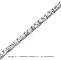 14k White Gold Fun Side 6.45 Carat Diamond Tennis Bracelet