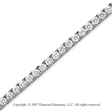 14k White Gold Fun Side 6.60 Carat Diamond Tennis Bracelet