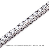 14k White Gold Fun Side 7.90 Carat Diamond Tennis Bracelet