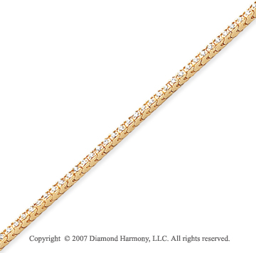 14k Yellow Gold Fun Side 1.80 Carat Diamond Tennis Bracelet