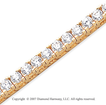 14k Yellow Gold Fun Side 10.50 Carat Diamond Tennis Bracelet