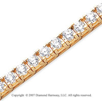 14k Yellow Gold Fun Side 12.60 Carat Diamond Tennis Bracelet