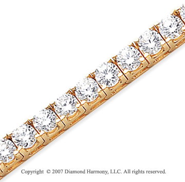 14k Yellow Gold Fun Side 17.10 Carat Diamond Tennis Bracelet