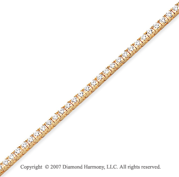 14k Yellow Gold Fun Side 2.15 Carat Diamond Tennis Bracelet