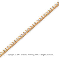 14k Yellow Gold Fun Side 2.25 Carat Diamond Tennis Bracelet