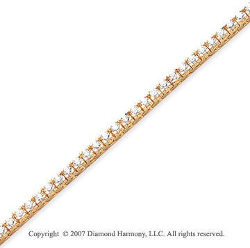 14k Yellow Gold Fun Side 2.85 Carat Diamond Tennis Bracelet