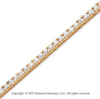 14k Yellow Gold Fun Side 4.10 Carat Diamond Tennis Bracelet