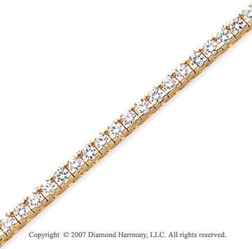 14k Yellow Gold Fun Side 5.00 Carat Diamond Tennis Bracelet