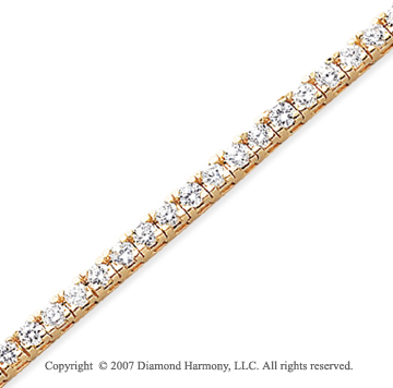 14k Yellow Gold Fun Side 6.45 Carat Diamond Tennis Bracelet