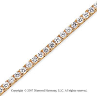 14k Yellow Gold Fun Side 6.60 Carat Diamond Tennis Bracelet