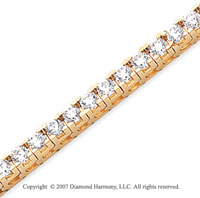 14k Yellow Gold Fun Side 7.90 Carat Diamond Tennis Bracelet