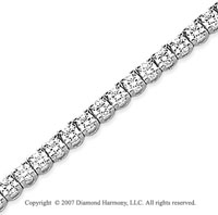 14k White Gold Side Box 5.20 Carat Diamond Tennis Bracelet