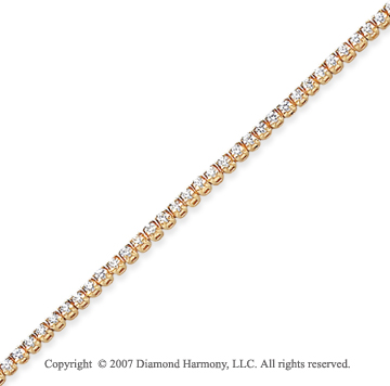 14k Yellow Gold Side Box 1.85 Carat Diamond Tennis Bracelet