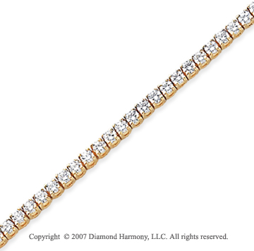 14k Yellow Gold Side Box 4.00 Carat Diamond Tennis Bracelet
