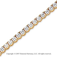 14k Yellow Gold Side Box 5.20 Carat Diamond Tennis Bracelet