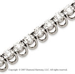 14k White Gold Basket 10 1/5 Carat Diamond Tennis Bracelet