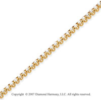 14k Yellow Gold Basket 2 4/5 Carat Diamond Tennis Bracelet