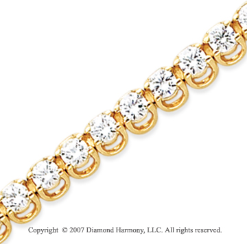 14k Yellow Gold Basket 7 4/5 Carat Diamond Tennis Bracelet