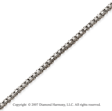 14k White Gold Elegant 1.00 Carat Diamond Tennis Bracelet
