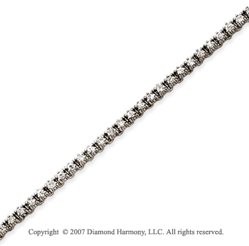14k White Gold Elegant 1 1/5 Carat Diamond Tennis Bracelet