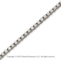 14k White Gold Elegant 2 2/3 Carat Diamond Tennis Bracelet