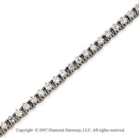 14k White Gold Elegant 2.70 Carat Diamond Tennis Bracelet