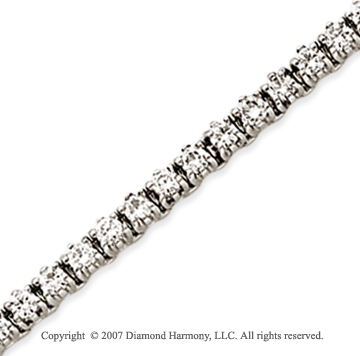 14k White Gold Elegant 4.00 Carat Diamond Tennis Bracelet