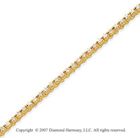 14k Yellow Gold Elegant 1 1/5 Carat Diamond Tennis Bracelet